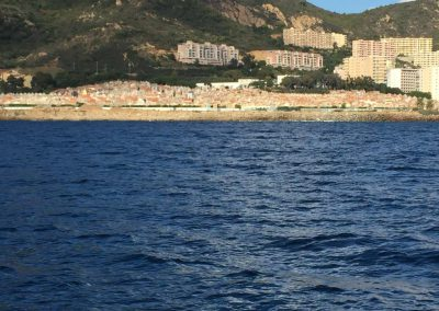 Cimetière d'Ajaccio vu de la mer